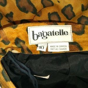 bagatelle Skirts - Vintage Bagatelle Leather Leapard Pencil Skirt